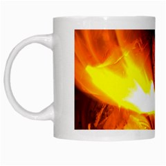 Fire Rays Mystical Burn Atmosphere White Mugs by Nexatart