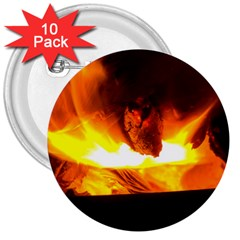 Fire Rays Mystical Burn Atmosphere 3  Buttons (10 Pack)