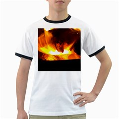 Fire Rays Mystical Burn Atmosphere Ringer T Shirts