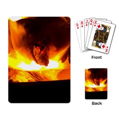 Fire Rays Mystical Burn Atmosphere Playing Card