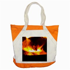 Fire Rays Mystical Burn Atmosphere Accent Tote Bag by Nexatart