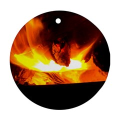 Fire Rays Mystical Burn Atmosphere Round Ornament (two Sides) by Nexatart