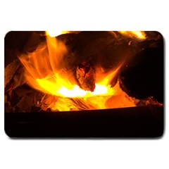 Fire Rays Mystical Burn Atmosphere Large Doormat  by Nexatart