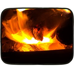 Fire Rays Mystical Burn Atmosphere Fleece Blanket (mini) by Nexatart