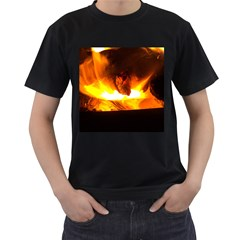 Fire Rays Mystical Burn Atmosphere Men s T Shirt (black)