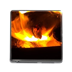 Fire Rays Mystical Burn Atmosphere Memory Card Reader (square) by Nexatart