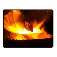Fire Rays Mystical Burn Atmosphere Fleece Blanket (small)