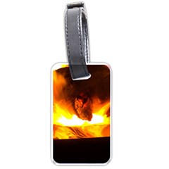 Fire Rays Mystical Burn Atmosphere Luggage Tags (one Side)  by Nexatart
