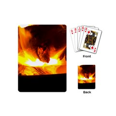 Fire Rays Mystical Burn Atmosphere Playing Cards (mini)