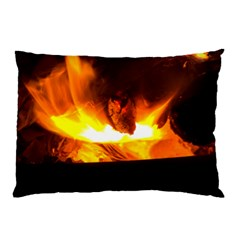 Fire Rays Mystical Burn Atmosphere Pillow Case (two Sides) by Nexatart