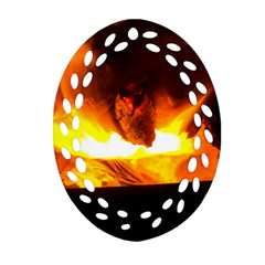 Fire Rays Mystical Burn Atmosphere Oval Filigree Ornament (two Sides) by Nexatart