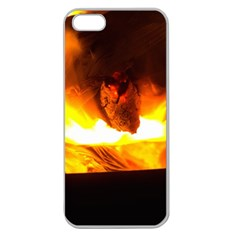 Fire Rays Mystical Burn Atmosphere Apple Seamless Iphone 5 Case (clear)