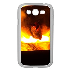 Fire Rays Mystical Burn Atmosphere Samsung Galaxy Grand Duos I9082 Case (white) by Nexatart