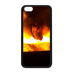 Fire Rays Mystical Burn Atmosphere Apple Iphone 5c Seamless Case (black) by Nexatart