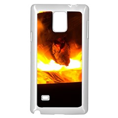 Fire Rays Mystical Burn Atmosphere Samsung Galaxy Note 4 Case (white)