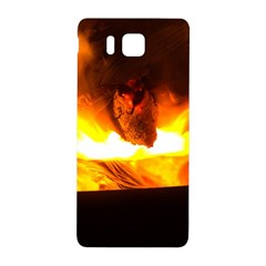 Fire Rays Mystical Burn Atmosphere Samsung Galaxy Alpha Hardshell Back Case by Nexatart
