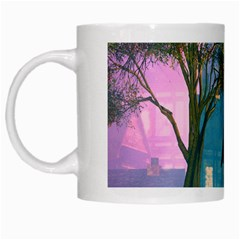 Background Forest Trees Nature White Mugs by Nexatart