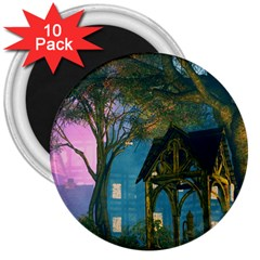 Background Forest Trees Nature 3  Magnets (10 Pack)  by Nexatart