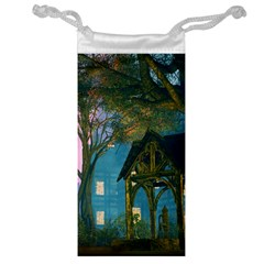 Background Forest Trees Nature Jewelry Bag