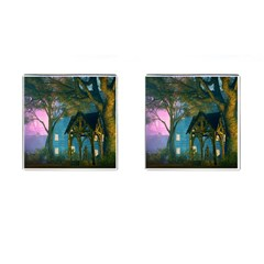 Background Forest Trees Nature Cufflinks (square) by Nexatart