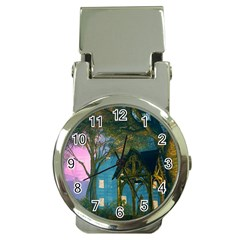 Background Forest Trees Nature Money Clip Watches by Nexatart