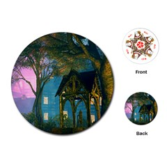 Background Forest Trees Nature Playing Cards (round)