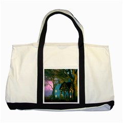 Background Forest Trees Nature Two Tone Tote Bag