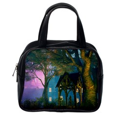 Background Forest Trees Nature Classic Handbags (one Side)