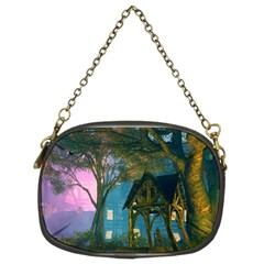 Background Forest Trees Nature Chain Purses (two Sides)  by Nexatart