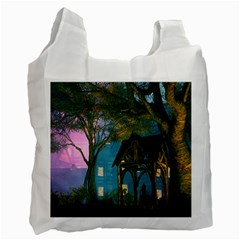 Background Forest Trees Nature Recycle Bag (two Side)