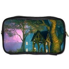 Background Forest Trees Nature Toiletries Bags 2 Side by Nexatart