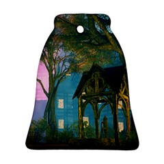Background Forest Trees Nature Ornament (bell)