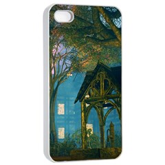 Background Forest Trees Nature Apple Iphone 4/4s Seamless Case (white)