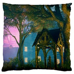 Background Forest Trees Nature Large Cushion Case (two Sides)