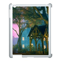 Background Forest Trees Nature Apple Ipad 3/4 Case (white)