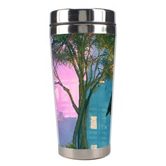 Background Forest Trees Nature Stainless Steel Travel Tumblers by Nexatart