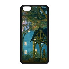 Background Forest Trees Nature Apple Iphone 5c Seamless Case (black) by Nexatart