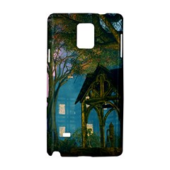 Background Forest Trees Nature Samsung Galaxy Note 4 Hardshell Case by Nexatart