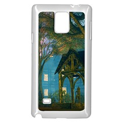 Background Forest Trees Nature Samsung Galaxy Note 4 Case (white)