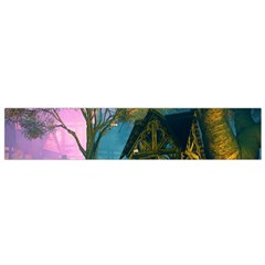 Background Forest Trees Nature Flano Scarf (small) by Nexatart
