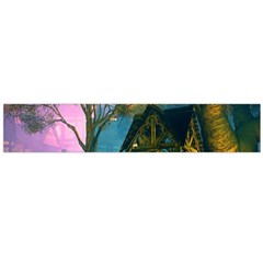Background Forest Trees Nature Flano Scarf (large)