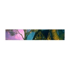 Background Forest Trees Nature Flano Scarf (mini) by Nexatart