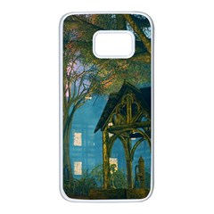Background Forest Trees Nature Samsung Galaxy S7 White Seamless Case
