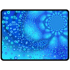Bokeh Background Light Reflections Double Sided Fleece Blanket (large)  by Nexatart
