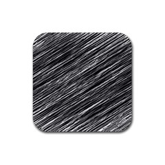 Background Structure Pattern Rubber Square Coaster (4 Pack)