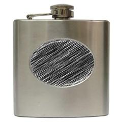 Background Structure Pattern Hip Flask (6 Oz)