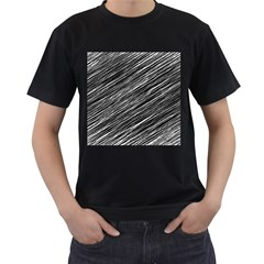 Background Structure Pattern Men s T Shirt (black) (two Sided)