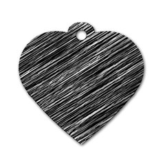 Background Structure Pattern Dog Tag Heart (two Sides)
