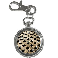 Texture Wood Flooring Brown Macro Key Chain Watches