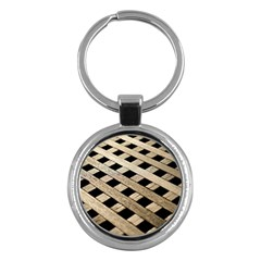 Texture Wood Flooring Brown Macro Key Chains (round)